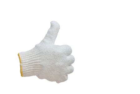 cotton gloves isolated on white background, good symbol Stock Photo