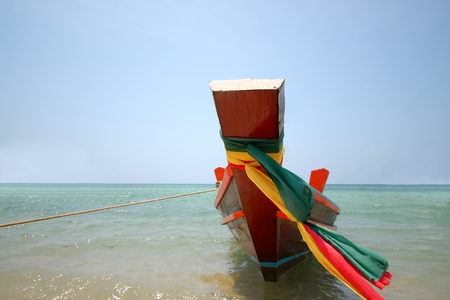 Long tail boat at Phangan island, Thailand