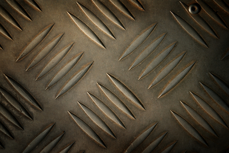 Metal steel plate closeup for background. Stock Photo