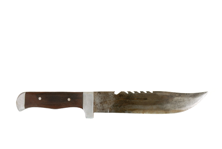 knife  on white background. Thai local pocket knife. Stock Photo - 83038996
