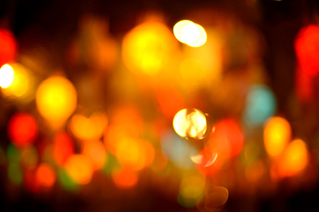 Multicolored  light bokeh background.