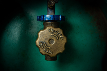 Operating valve of LPG cylinder. 스톡 콘텐츠