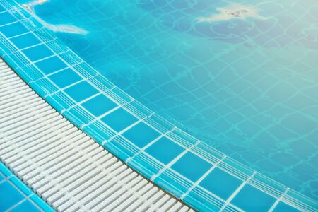 Overflow grating of swimming water pool.