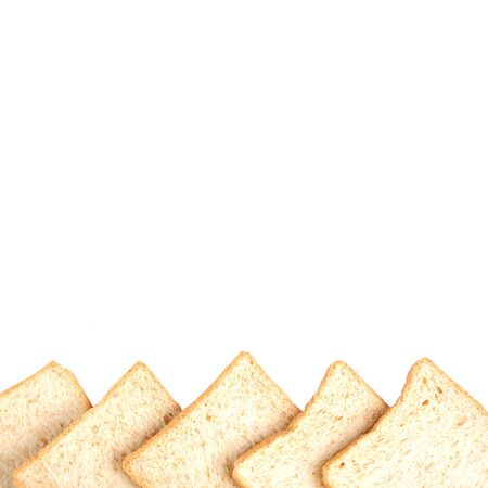 Sliced bread on white background. Banque d'images