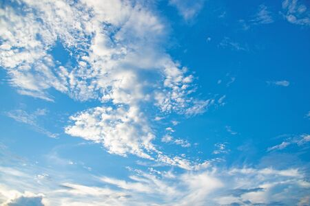 Blue sky with white clouds. 스톡 콘텐츠 - 132305027