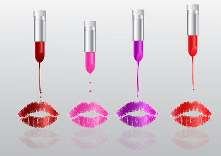 Lipstick is melting Vector
