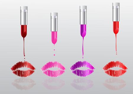 Lipstick is melting Illusztráció