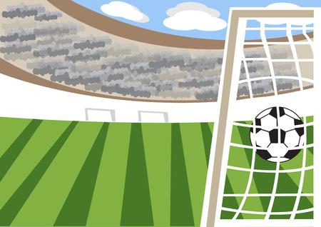 soccer stadium: Public viewing soccer stadium Illustration