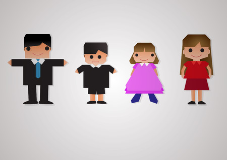 Team family isolate background Vector