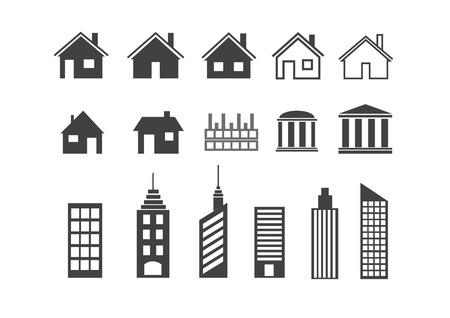 simplus: Construcci�n de conjunto de iconos. Ilustraci�n del vector. Serie Simplus