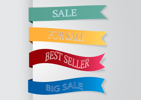 Set of banners ribbon Vector