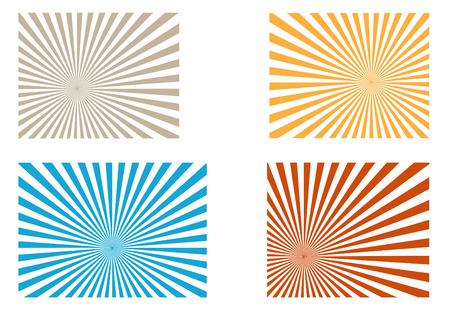 Sunburst  colorful pattern