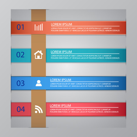 jobsite: vector template for infographics or presentations