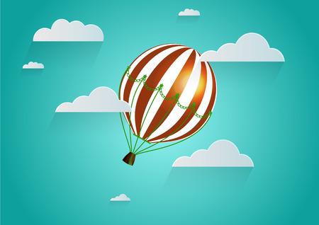 balloon vector: Hot Air Balloon Vector Graphic