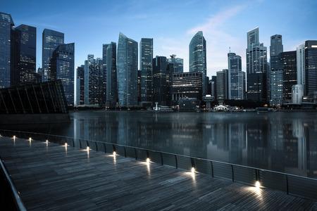 싱가포르의 스카이 라인 스톡 콘텐츠