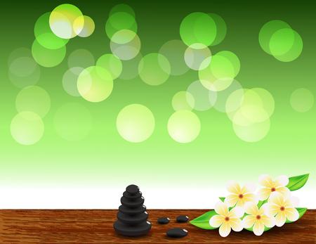zen stones: Vector Beautiful Spa Composition With Zen Stones