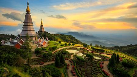 The Great Holy Relics Pagoda Nabhapolbhumisiri, Chiang mai, Thailand Stock fotó
