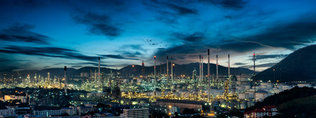 construction plant: Oil refinery factory in the morning