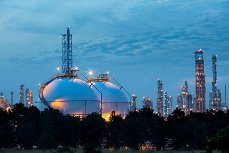 Sphere tank of storage gas and liquid chamical Banco de Imagens - 50880567