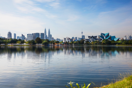 Kuala lumpur malaysia skyline at titiwangsa park Stock fotó
