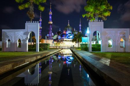 Masjid Kristal (Crystal Mosque), Malaysia Stok Fotoğraf