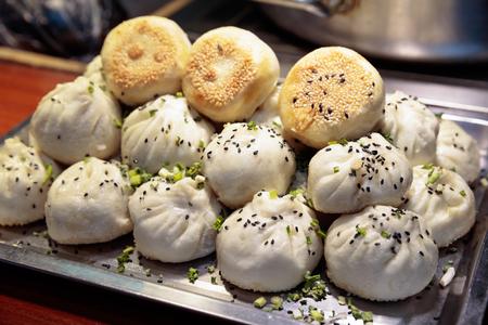 上海 - 団子、ホットを食べる、朝食品、スープ餃子、小籠、小龍包、中華料理