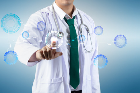telecommunicate: Innovative technologies in science and medicine Stock Photo