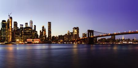 New York City - beautiful sunset at manhattan
