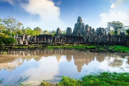 Bayon temple in the Angkor Wat, Cambodia.