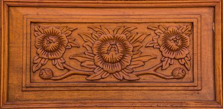 wood paneling: Wood paneling, carvings