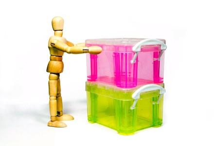 marioneta de madera: marioneta de madera es el manejo de caja de plástico