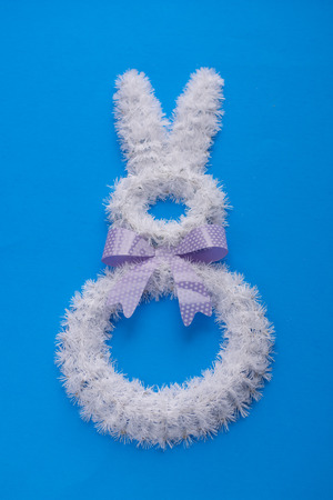 Easter holiday decorations on bright colors