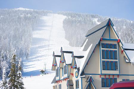 View of ski hill. Mt. Spokane ski hill.