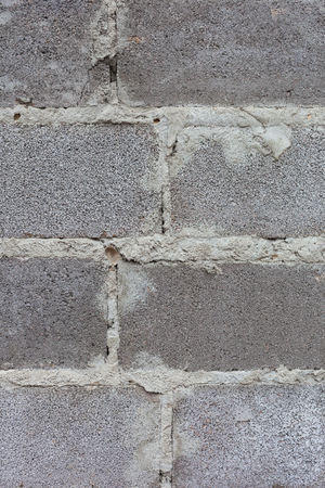 cinder: The texture of the walls of cinder block. Rough stitches