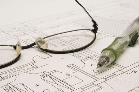 Eyeglasses and pen photo