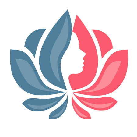 sports vector: lotus flower with lady face