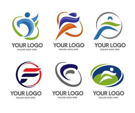 Letter F logo sport Ilustração