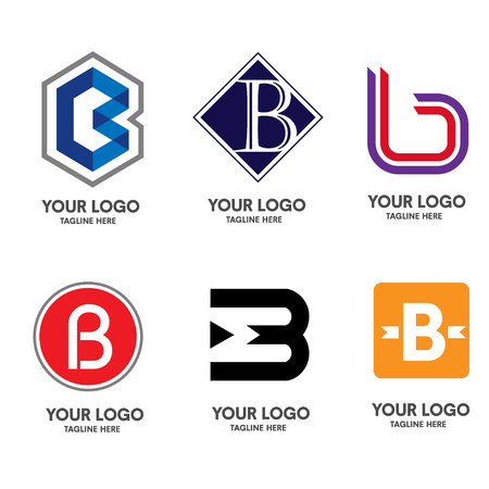 Letter B logo 일러스트