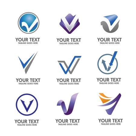 letter v logo Vettoriali