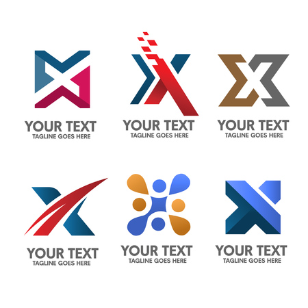 letter x logo set