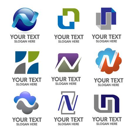 accountig: elegant letter n logo