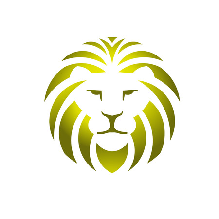 lionhead: lion head icon Illustration