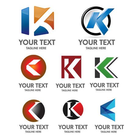 letter k logo set