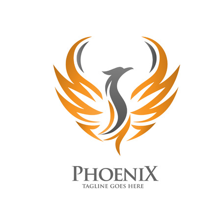 elegant phoenix logo Konzept