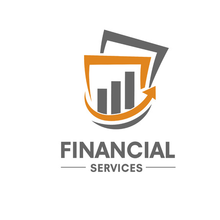 succes financil marketing logo Stock Illustratie