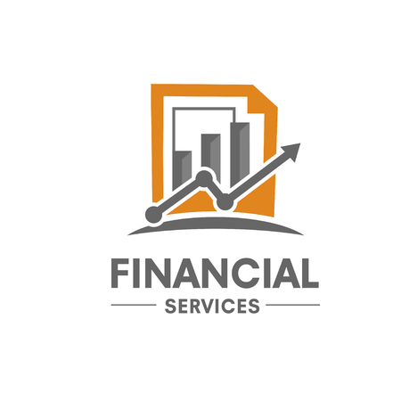 attainment: financial and success marketing logo Illustration