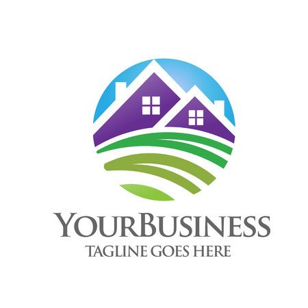 house logo: green house logo Illustration