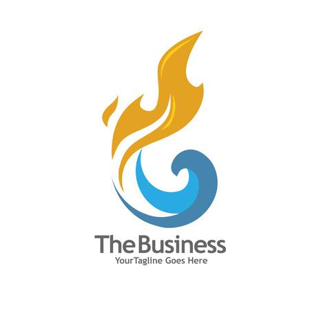 gaz de pétrole et le logo de l'énergie