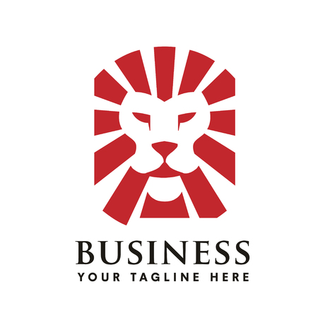 illustrations of Lion head logo vector perfect for investment,legal, real estate , security and consulting business