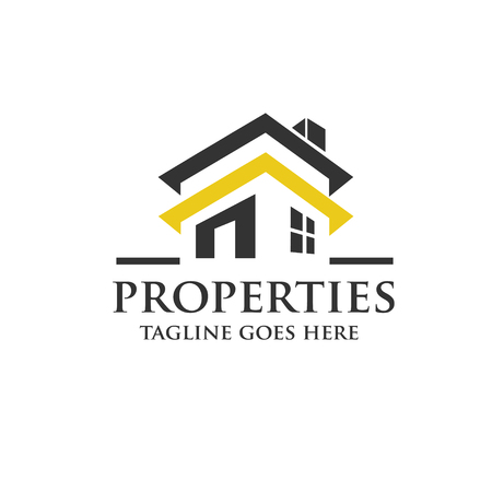 abstract logos: real estate logo concept